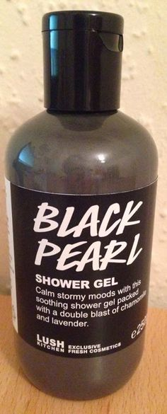 SOLD ON EBAY 1/21/15-LUSH KITCHEN Black Pearl Shower Gel 250ml. Brand new, limited edition. $32 shipped