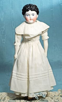 "GERMAN PORCELAIN CHINA DOLL DEPICTING YOUNG GIRL. 23"". : Lot 116"