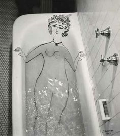Matisse would be in my clawfoot tub, rather than right next to it.