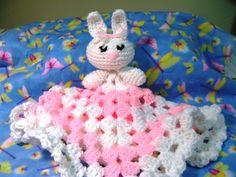 crochet bunny blankie lovie - Part 1 (subtitulos en espanol - Parte 1 )