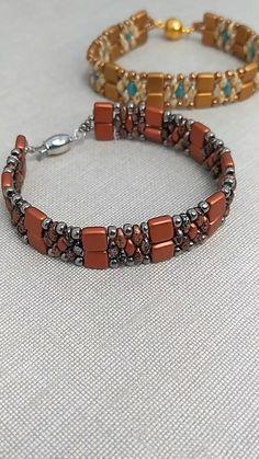 Beaded Bracelets Tutorial, Beaded Bracelet Patterns, Jewelry Patterns, Bracelet Designs, Seed Bead Jewelry, Bead Jewellery, Beaded Jewelry, Jewelry Necklaces, Handmade Wire Jewelry