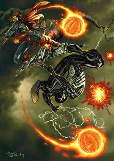 Spiderman vs Hobgoblin -Spiderguile pencils by ~Luis-Guerrero Comic Book Characters, Comic Book Heroes, Marvel Characters, Comic Character, Comic Books Art, Comic Art, Amazing Spiderman, All Spiderman, Hq Marvel