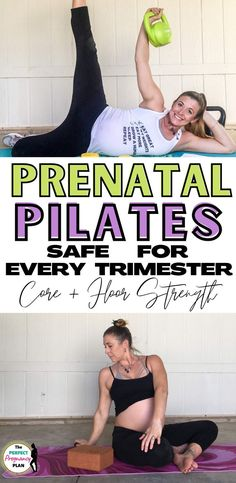 The best pregnancy pilates routine safe for every trimester! Do this prenatal pilates routine at home during the first trimester, second trimester, or third trimester to strengthen your pelvic floor and deep core to have a more comfortable pregnancy. Prenatal pilates is the perfect form of exercise for every pregnant woman. This prenatal workout is the best!