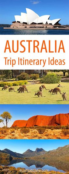 Australia itinerary suggestions for Australia road trip visiting Sydney, Melbourne, Red Center (Uluru), the Great Ocean Road, Kangaroo Island, Adelaide, the Grampians, Tasmania and more. Plan your own perfect Australia itineraty with these tips! #australiatravel #australiatrip #australia #australiaitinerary #australiatrip Work And Travel Australia, Visit Australia, Australia Trip, Melbourne Australia, Brisbane, Sydney, Mykonos, Auckland, Places To Travel