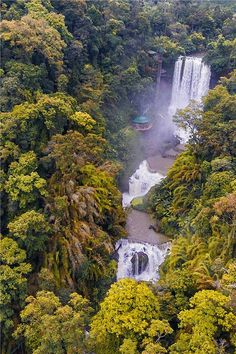 Dambri Waterfall is one of the tourist attraction in the middle Vietnam.