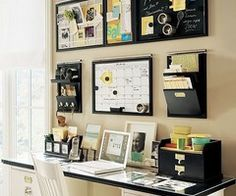 Wall office wall organisation on point! If only it was white!!