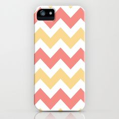 Coral and Yellow Chevron iPhone & iPod Case by Zen and Chic - $35.00