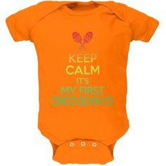Cinco De Mayo - Keep Calm First Cinco De Mayo Kelly Green Soft Baby One Piece