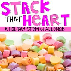 This fun hands-on Valentine activity tests students building skills while reinforcing important mathematical concepts. Students work in partners to build the tallest tower they can using only conversation hearts. A great Valentine's Day activity...or perfect for those conversation heart leftovers later in the month!