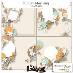 Sunday Morning Templates by Pat's Scrap
