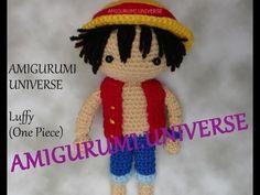 Amigurumi Luffy el protagonista de la serie One Piece - Patrón Gratis en Español - Videotutorial primera parte aquí: https://www.youtube.com/watch?v=1rJg01CjVAE  Segunda parte aquí: https://www.youtube.com/watch?v=3l-stOTUY4U
