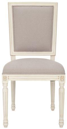 Celine Chair, Cream Finish (Set of 2)