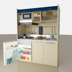 Cucine a scomparsa, Mini Cucine monoblocco | Micro house, Small ...