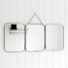 Tri-Fold Wall Hung Mirror - contemporary - mirrors - Graham and Green
