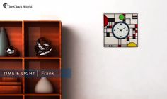 """NeXtime asked Erwin Klijn to design a wall clock inspired by Frank Lloyd Wrights' famous stained glass panels. """"I like to think of this design as a modern interpretation of Frank Lloyd Wrights' colourful patterns, which he designed for the Coonley Playhouse in 1911/1912."""" #Clocks #HomeDecor #Ahmedabad"""