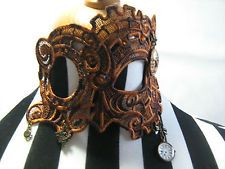 Embroidered Lace Mask with Diamantes  Goth/Steampunk/Burlesque/Mardi Gras