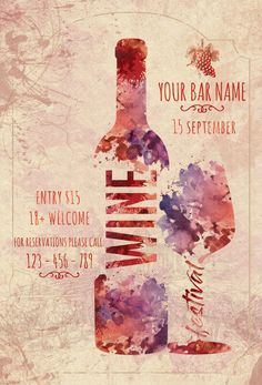 In this DIY tutorial, we will show you how to make Christmas decorations for your home. Festival Flyer, Wine Festival, Wine Leaves, Bar A Vin, Wine Poster, Wine Logo, Vides, Large Christmas Baubles, Wine Design