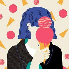 Ice cream cone ~ face
