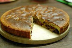 Fotorecept: Špaldový čerešňový koláč s čokoládou
