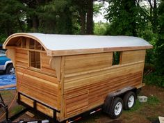 Gypsy Caravan Building Plans | Building a Gypsy Wagon (Paleotools build) http://www.instructables.com ...