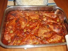 Olaszos szószban sült tepsis csirke