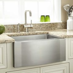 """27"""" Optimum Stainless Steel Farmhouse Sink - Wave Front"""