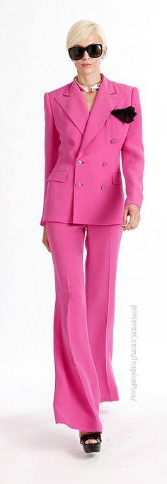 Fashion Pinks, Fuchsia Fashion, Trouser Suits Blazers, Pants Suit, Slacks, Lauren Classic, Lauren Sharp, Lauren Suit, Ralph Lauren #fabrics #rexfabrics #lace #cotton #colors #french #fabricstore #store #hautecouture #couture #miami #shopping #miamishopping #coralgables