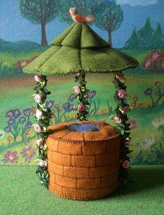 Dieser schöne Brunnen dient als Märchen- oder Wunschbrunnen und kann in verschiedenen Variationen hergestellt werden.  Wer möchte kann seinen Brunnen