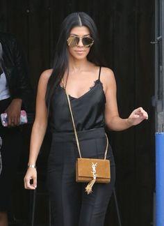 Kourtney Kardashian is seen leaving a studio in Van Nuys.