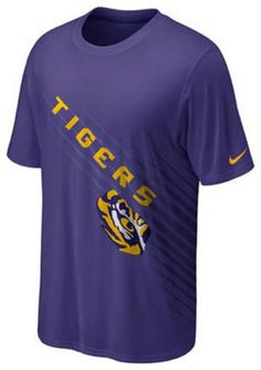 6bea9430 LSU Tigers Youth t-shirt Nike Dri Fit NWT new with tags NCAA Geaux Tigers