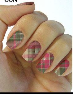 pink plaid nails, water transfer nail wrap, nail sticker,Plaid Nail wrap,Nail Design,Nail Art,Nail Decoration,Nail Decal,Plaid Nail art