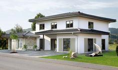 kleines Haus mit flachem Dach