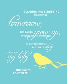 I loved this poem when I was a little girl and I sing it to my girls everyday.  I made a cross-stitch of this for my daughter when she had her first baby.  We had it hanging in her nursery when she was a baby.