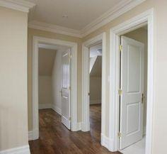 Living room paint color ideas with wood trim joanna gaines Ideas Door Molding, Moldings And Trim, Moulding, Crown Molding, Interior Color Schemes, Interior Paint Colors, Interior Painting, Painting Doors, Paint Colours