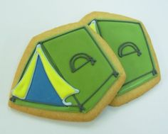 camping tent cookie