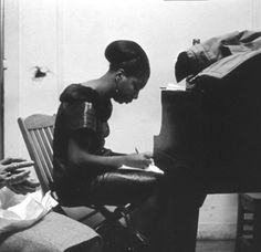 Happy Birthday, Nina Simone: Photographs by Alfred Wertheimer Nina Simone, Big Songs, Happy 80th Birthday, Young Elvis, Play That Funky Music, Civil Rights Activists, Playing Piano, She Song, He Is Able
