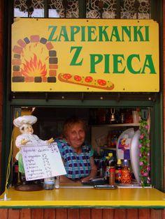 Kazimierz, Krakow, Poland...zapiekanki! here is what I should make with those mushrooms going bad in the fridge :)