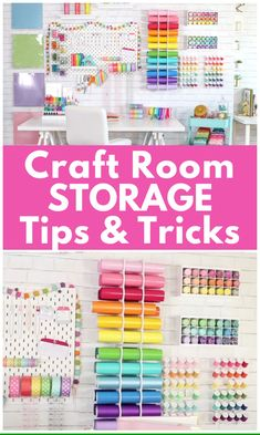 How to Organize your Craft Room Tips and Tricks - Sweet Red Poppy Learn How to . - How to Organize your Craft Room Tips and Tricks – Sweet Red Poppy Learn How to Easily Organize Y - Craft Room Storage, Craft Room Decor, Craft Room Design, Cricut Craft Room, Craft Organization, Craft Room Shelves, Pegboard Craft Room, Ikea Pegboard, Painted Pegboard