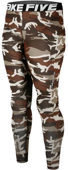 New 120 Skin Tights Compression Leggings Base Layer Camo Running Pants Mens (L). Men's long Pants compression Tights made using Take Five technology. Compression fit bolsters muscle support and increases circulation. UVA/UVB Protection - Take Five compressoin protects your skin from UVA/UVB radiation during your outdoor workout. Great for skiing, snowboarding, training, competing, and all weather sports and activities. Machine washable.