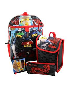 c4e377bc8c9 This awesome Lego Ninjago 5 piece set includes a 16 inch backpack