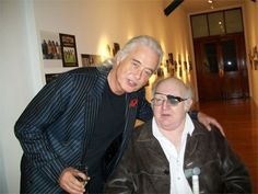 Jimmy and the late Zep author Howard Mylett