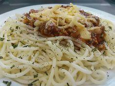 Špagety s bravčovým mäsom Spaghetti, Cooking, Ethnic Recipes, Food, Kitchen, Essen, Meals, Yemek, Noodle