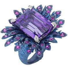 Margherita Burgener #rings #jewelry #purple