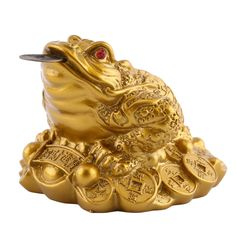 LUCKY Fortune Chinese Frog Tabletop Ornaments  Price: 5.99 & FREE Shipping   #ShopGetHome #AllthingsHome#Onlineshopping #Weloveonlineshopping #Stylishbedding #Fridgestickers
