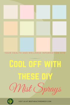 COOL OFF WITH THESE DIY MIST SPRAYS. If you find that you are uncomfortable during the summer because you are hot and sweaty, why not give yourself a little mist with your own homemade DIY mist spray? #facemistspray #facialmistspray #mistspray #facemist #finemistspraybottle #mistspraybottle #spraybottle #finemist