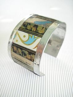 turquoise black ivory gold mixed recycled tin by eaststreettins 44