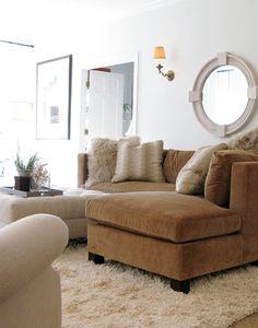Lisa Sherry Interieurs | Interior Design  living room setting, love the shag rug!!!