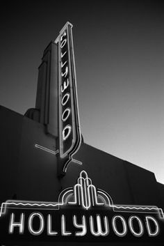 Vintage Hollywood Sign on a building