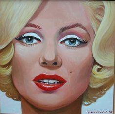 Marilyn, 100 x 100cm, oil on canvas ©ermine #icon