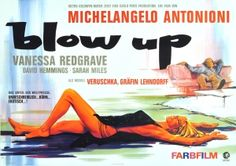 Blow-Up, 1967 - original vintage movie poster by Hans Braun for the German issue of the 1966 movie, Blow Up, starring David Hemmings, Vanessa Redgrave and Sarah Miles, listed on AntikBar.co.uk